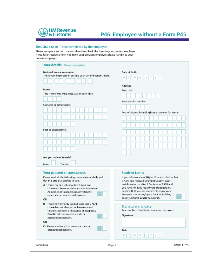 P46 Pdf Fill Out And Sign Printable Pdf Template Signnow