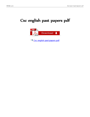 Get And Sign Cxc Past Papers With Answers Form