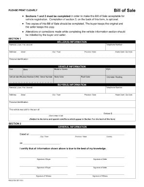 Bill Of Sale Alberta Fill Out And Sign Printable Pdf Template Signnow