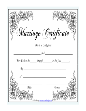 www marriage certificate form fill out and sign. Black Bedroom Furniture Sets. Home Design Ideas