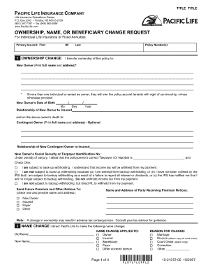 Life Insurance Beneficiary Form Template Fill Out And Sign