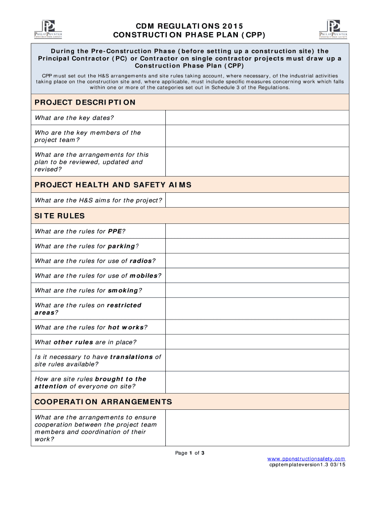 Get And Sign Construction Phase Plan Template Word 2015-2021 Form