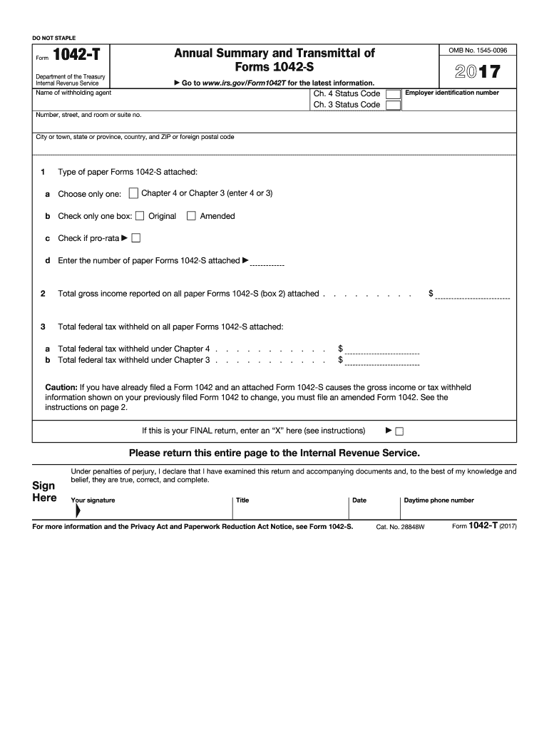 Get And Sign Form 1042 T Annual Summary And Transmittal Of Forms 1042 S 2015-2021