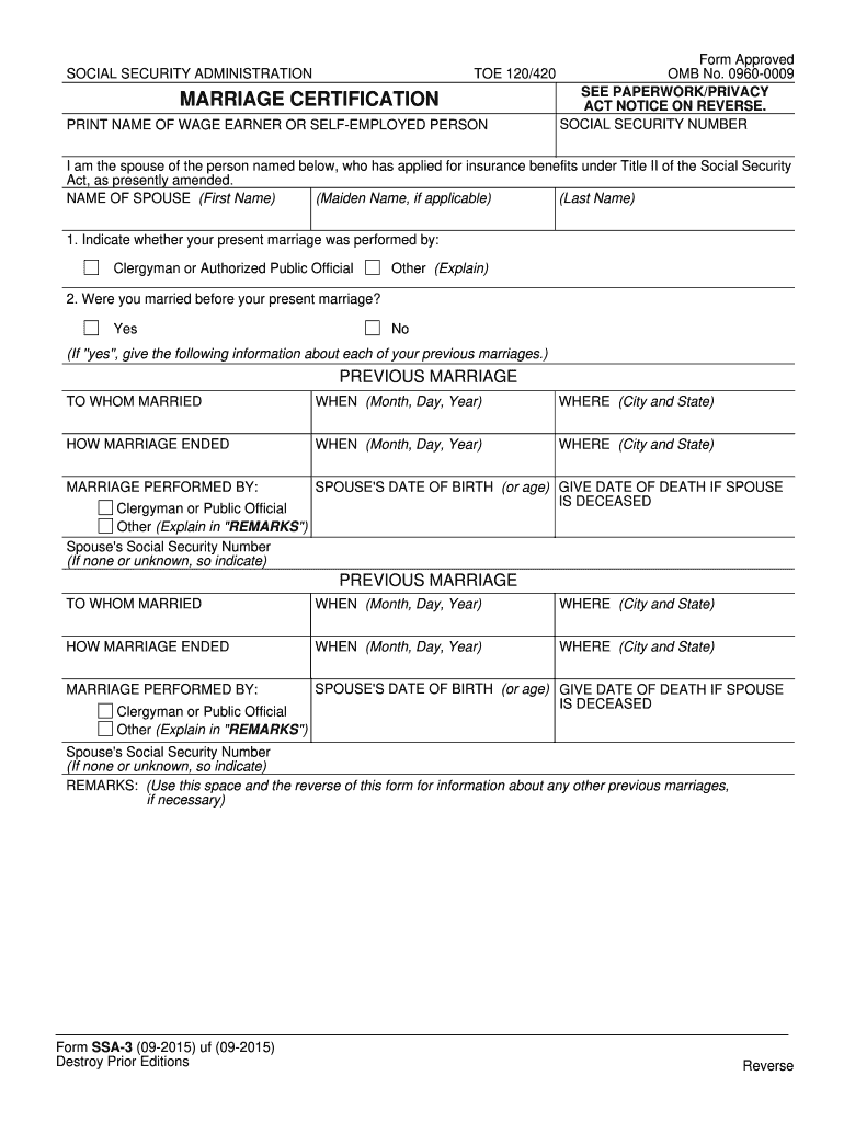 Get And Sign Marriage Certification 2015-2021 Form