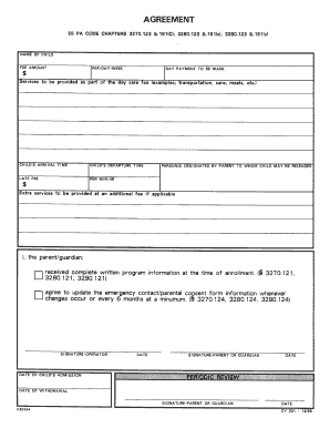 Cy 321 Day Care Agreement Form Fill Out And Sign