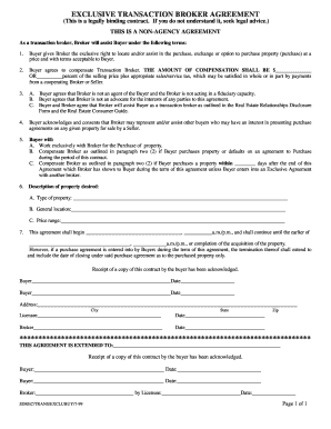 Broker Agreement Form Fill Out And Sign Printable Pdf
