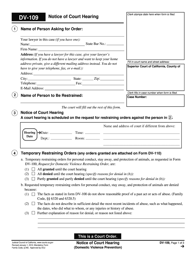 Get And Sign Dv 109 2012-2021 Form