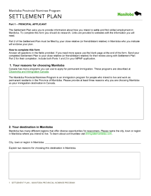 Settlement Plan Sample Form Fill Out And Sign Printable