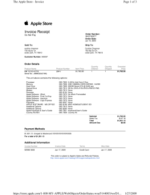the apple store invoice oocities form fill out and. Black Bedroom Furniture Sets. Home Design Ideas