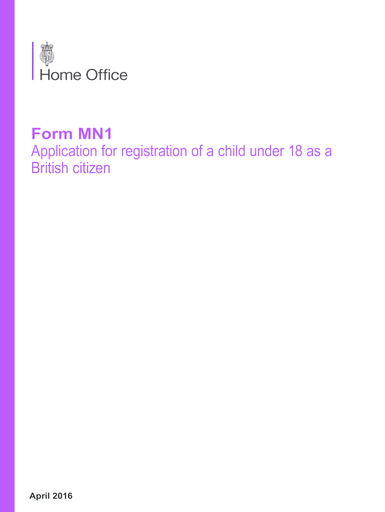 Get And Sign Mn1 Application 2016-2021 Form