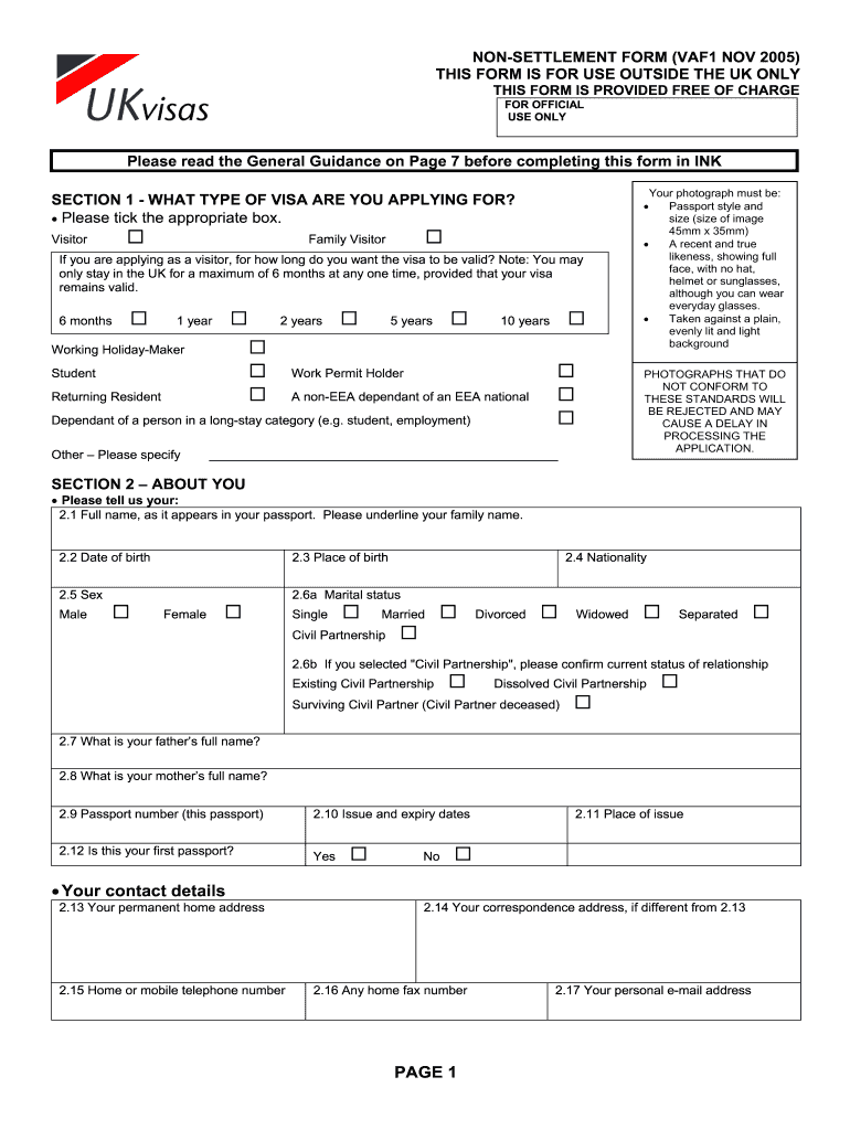 Get And Sign Vaf1 2005-2021 Form
