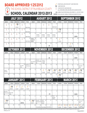 School Calendar The School District Of Palm Beach County