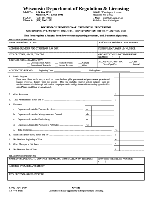 Form 1952 Wisconsin Department Of Regulation And Licensing Fill