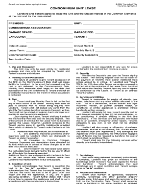 Condominium Lease Form Fill Out And Sign Printable Pdf