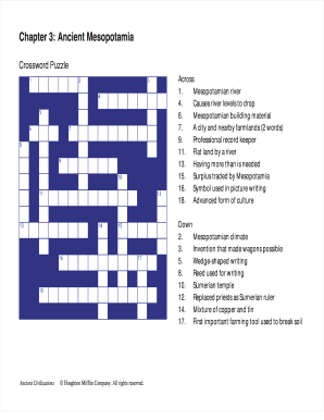image about Printable Fill in Puzzle called Chapter 3 historic mesopotamia crossword puzzle solution mystery