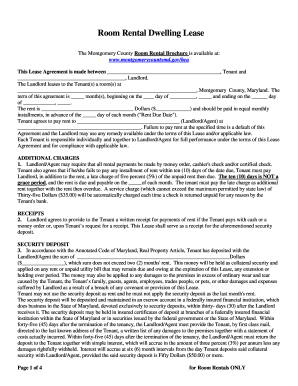 Room lease form - Fill Out and Sign Printable PDF Template