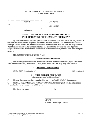 Divorce Final Judgement Image Form Fill Out And Sign