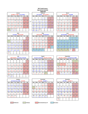 Aramco calendar form - Fill Out and Sign Printable PDF