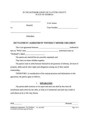 graphic relating to Printable Divorce Papers for Georgia named Divorce paper template kind - Fill Out and Signal Printable