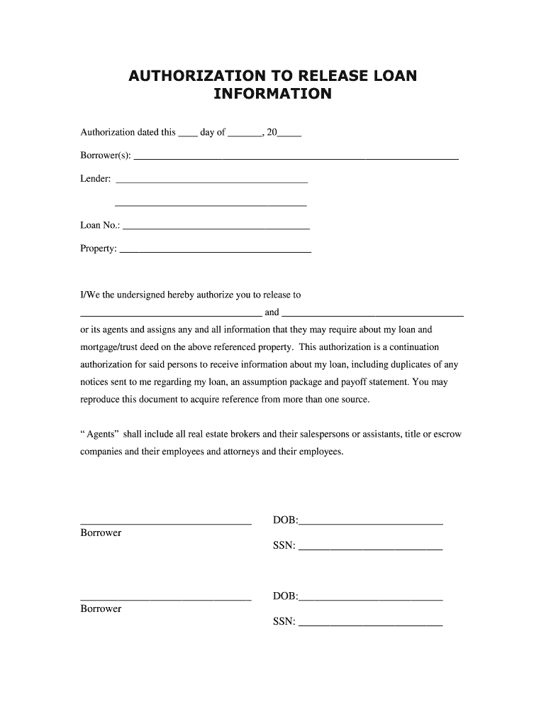 Get And Sign Blank Authorization To Release Information Form