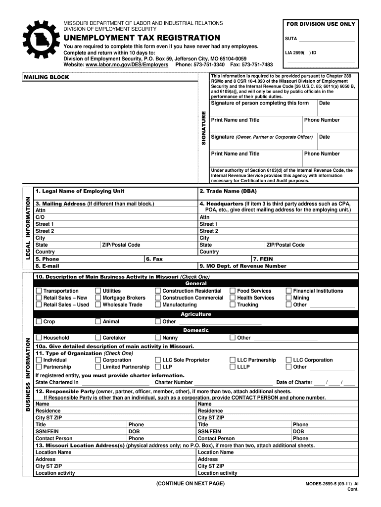 Get And Sign Modes 2699 5  Form 2011-2021