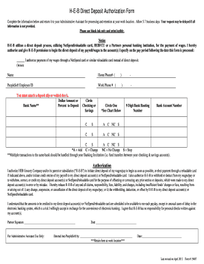 netspend direct deposit form  Heb direct deposit - Fill Out and Sign Printable PDF ...