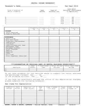 Schedule e worksheet online form - Fill Out and Sign