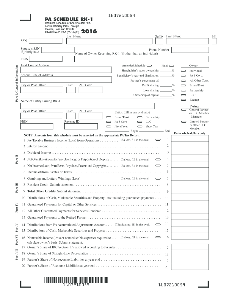Get And Sign Pa Rk 1  Form 2016-2021