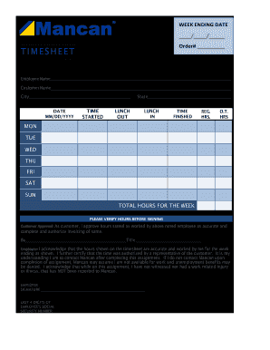Get And Sign Mancan Timesheet Form