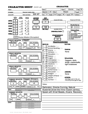 picture regarding 5e Character Sheet Printable named Get hold of And Signal Temperament SHEET DD 5E Type - Fill Out and Indication