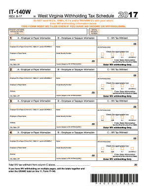 Get And Sign West Virginia Form It 140w 2017-2019 - Fill Out