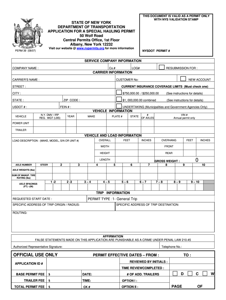 Get And Sign Ny Perm 2007-2021 Form
