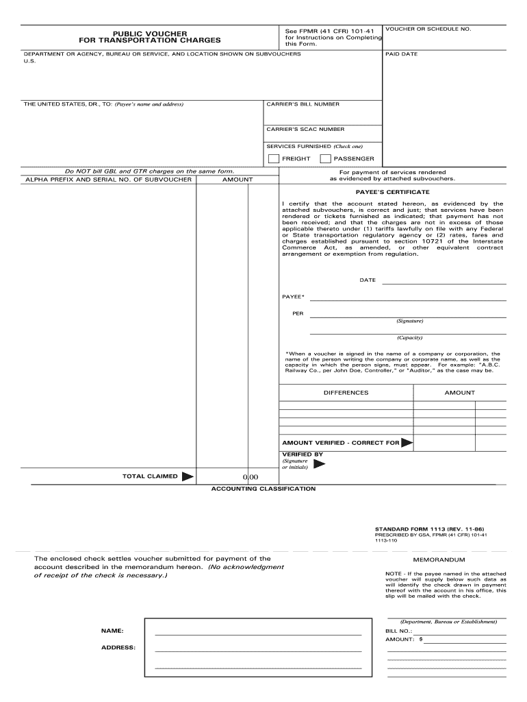 Get And Sign Standard Form 1113