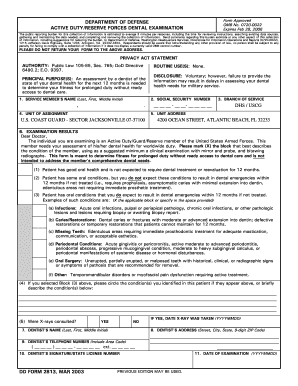 Air Force Dental Form 2813 Fill Out And Sign Printable Pdf
