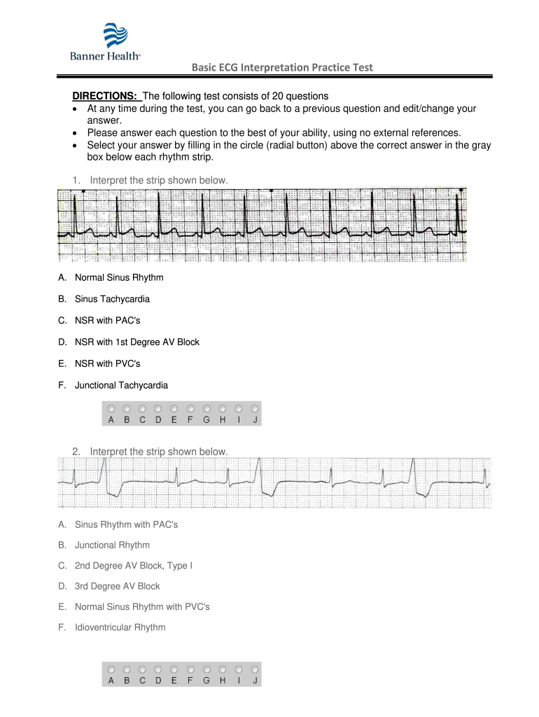 Get And Sign Practice Ekg Strips Form