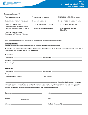 Mdl drivers licence form - Fill Out and Sign Printable PDF ... on application for occupancy permit, application for social security card, application for driver's license, application for tourist visa, application for identification card, application for disabled parking permit, application for work permit,