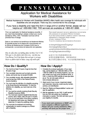image about Printable Disability Application titled Pa software mawd style - Fill Out and Indicator Printable PDF