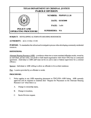 12030241 Tdcj Parole Support Letter Templates on