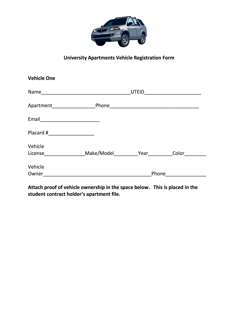 Get And Sign Apartment Vehicle Registration Form