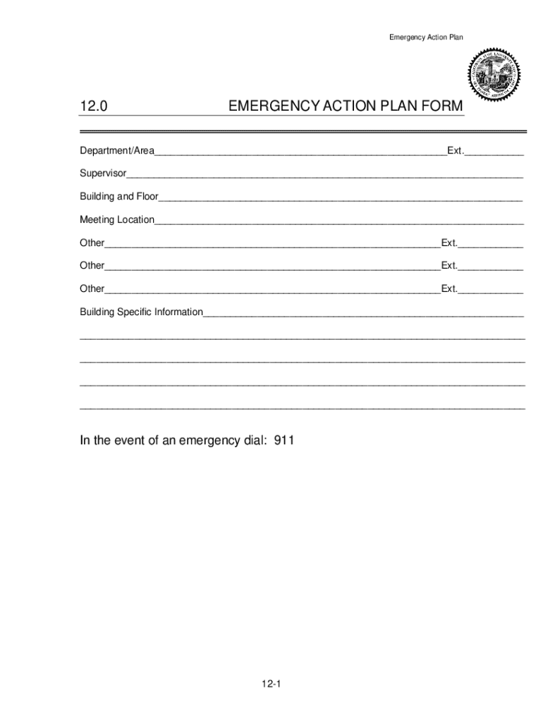 Get And Sign Emergency Action Plan California 2010-2021 Form
