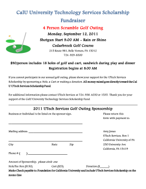 Golf Registration Form Template Fill Out And Sign Printable Pdf