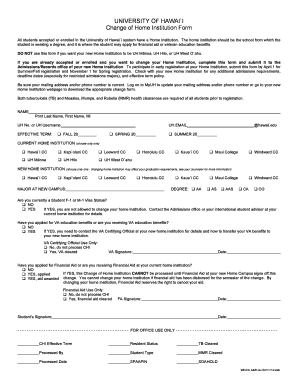 Get And Sign Hawai Change 2014-2021 Form