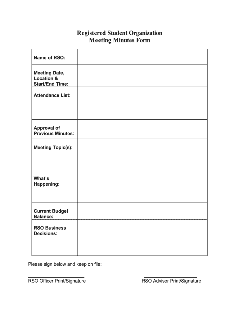 Minutes Of Meeting Format Pdf from www.signnow.com
