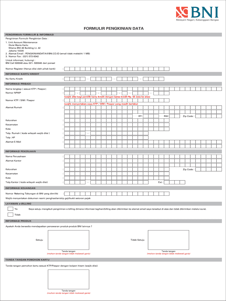 Pengkinian - Fill Out and Sign Printable PDF Template ...