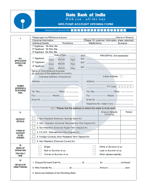 sbi account opening form application
