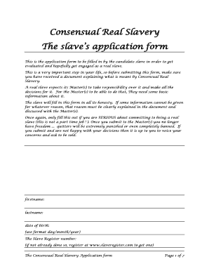 Slave contract pdf form - Fill Out and Sign Printable PDF