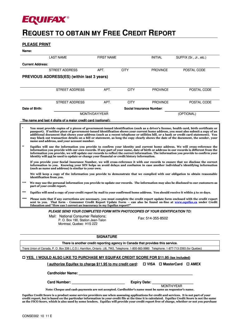 Blank Credit Report Fill Out And Sign Printable Pdf Template Signnow