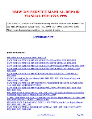 Bmw 3 series (92-98) & z3 (96-98) haynes repair manual (does not.