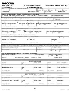 photo about Printable Credit Application Form known as Paccar credit history software program type - Fill Out and Signal Printable