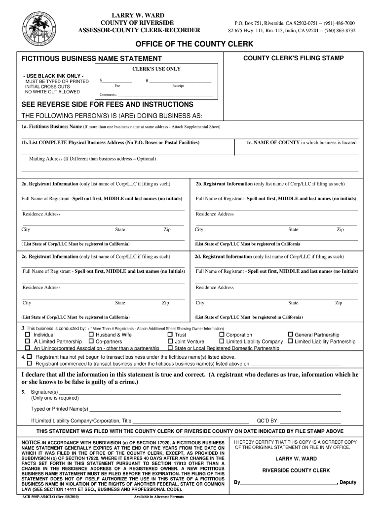 fictitious form pdf california printable physical fill signnow template complete